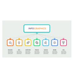 business hierarchy infographic organization chart vector image vector image