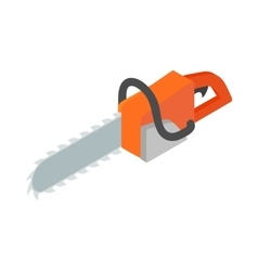 Chainsaw icon isometric 3d style vector image