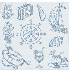 Doodle Travel elements vector image vector image