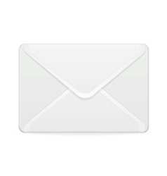 mail template white vector image