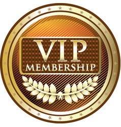 vip gold icon vector image vector image
