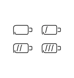 Battery set icons vector image vector image