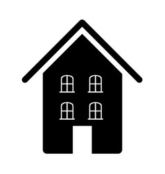 contour beautiful house icon vector image vector image