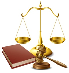 Law related object set vector image vector image