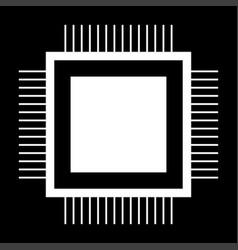processor the white color icon vector image