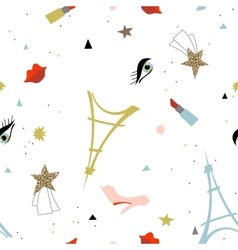 Abstract Paris fashion seamless pattern vector image