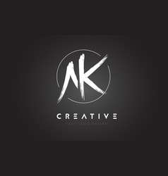 ak brush letter logo design artistic handwritten vector image