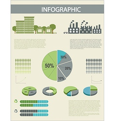 An infographics with pie graphs vector image