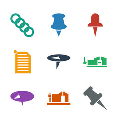 Attach icons vector