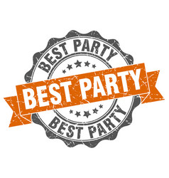 Best party stamp sign seal vector