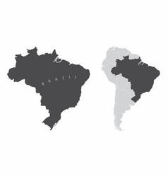 Brazil south america map vector
