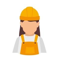 Builder construction worker women vector