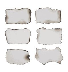 burnt papers vector image
