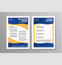 business brochure flyer design template vector image