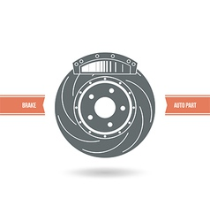 Car brake pads and discs icon vector