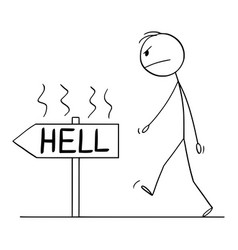 Cartoon angry man or businessman walking vector