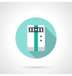 Climatic appliance round flat color icon vector image