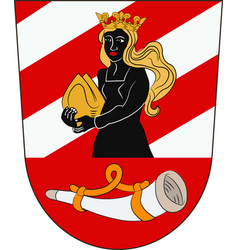 Coat of arms of neu-ulm in swabia bavaria germany vector
