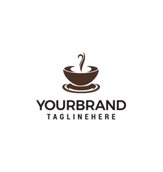 coffee and tea cup design template vector image