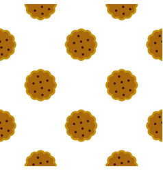 Cookies pattern flat vector