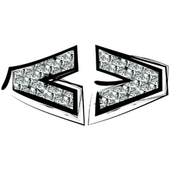 Diamond Font symbol vector