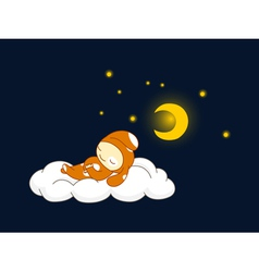 Dog sleeping vector