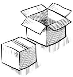 Doodle boxes moving packing vector