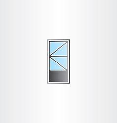 door with triangle window vector image