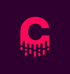 dripping logo letter c vector image