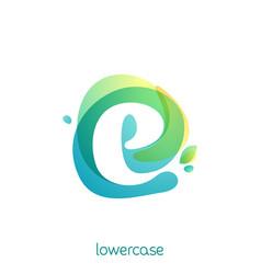 ecology lowercase letter e logo overlapping vector image