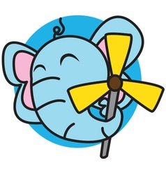 Elephant and Windmill vector image