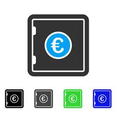 Euro safe flat icon vector