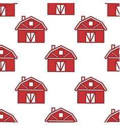 farm barn seamless pattern wooden construction vector image