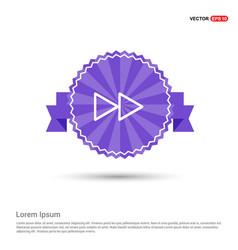 Fast forward icon - purple ribbon banner vector