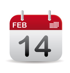 february calendar stand up vector image
