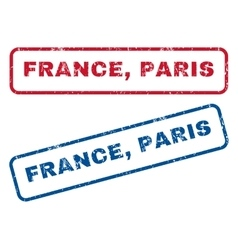 France Paris Rubber Stamps vector