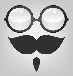 Funny mask retro sunglasses and mustache vector image