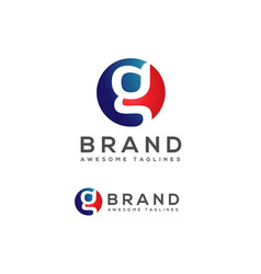 g letter in circle logo design vector image