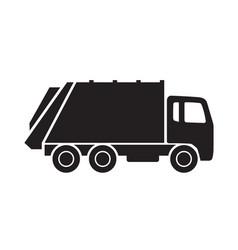 Garbage truck silhouette vector