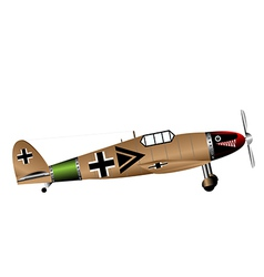 german ww2 fighter on white vector image