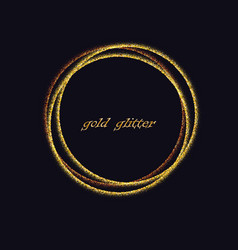 golden circles decoration design element gold vector image