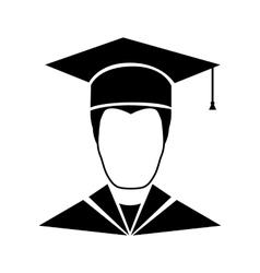Graduate student icon vector
