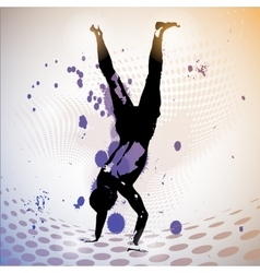 guy standing on his hands vector image