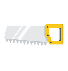 Hand saw flat icon build and repair handsaw sign vector
