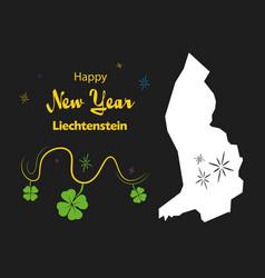 Happy new year theme with map of liechtenstein vector
