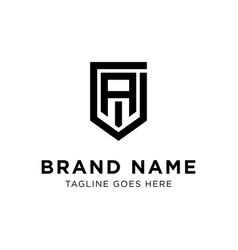 initial a logo design vector image