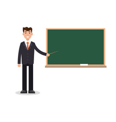 man male teacher on lesson at blackboard vector image