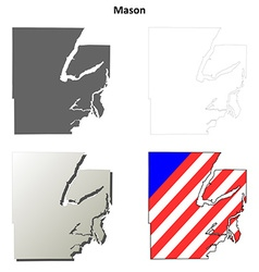 Mason Map Icon Set vector