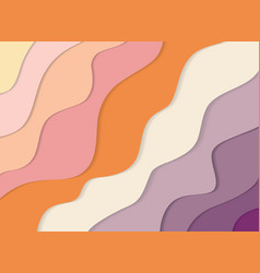 modern colorful 3d wavy banner paper cut out vector image