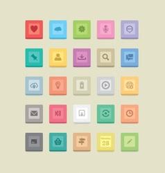 multicolor web icons vector image